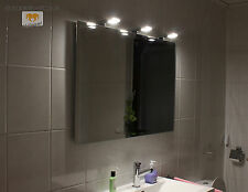 BRAN LED LEUCHT LAMPE BELEUCHTETER SPIEGEL MIT STEILFACETTE 120x60CM 3 LAMPEN