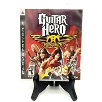 Guitar Hero Aerosmith Game And Case Sony PS3 PlayStation 3 Good