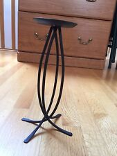 Wrought Iron Black Pillar Candle Holder Stand