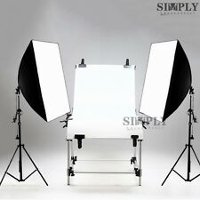 Photography Studio Softbox Lighting Video Light Stand Display Shooting Table Kit