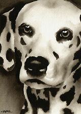 New ListingDalmatian Art Print Sepia Watercolor Painting by Artist Djr