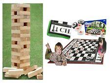 Les échecs géants & PIONS JEU + tour en bois géant bloc extérieure intérieure Famille Fun