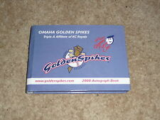Omaha Royals/Omaha Storm Chasers - 2000 Autograph Book For Omaha Golden Spikes