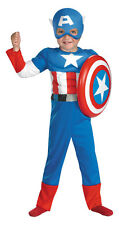 Superhero Squad Captain America Muscle Toddler Costume SIZE 2T NWT - 50125