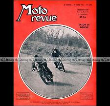 MOTO REVUE N°1078 BMW 250 R 25, MOSER GUILLER BOL D'OR, SALON DE GENEVE 1952