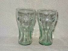 Coca-Cola Coke Collectible- Pair Small Glasses- Indiana Glass- Made in USA