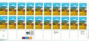 US 2533 29c Vermont plate block of 20 MNH lower left position P#A1111 MNH