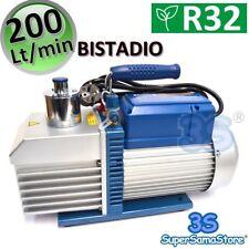 3S NUOVA POMPA ALTO VUOTO BISTADIO 200 LT/min 7.0 CFM UTILIZZABILE R32 R1234YF