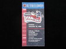 January 18, 1998 NHL All Star Celebration @ Vancouver Ticket Stub