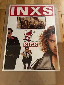 Vintage Rock N Roll Music Poster 1980's 1990's INXS KICK DIABLO