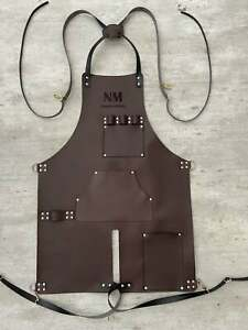 Leather Apron-BBQ, Cooking, Chef, Blacksmith Apron, Tablier for Men's