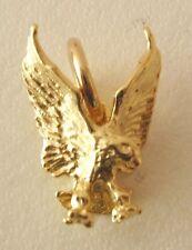 GENUINE SOLID  9K  9ct  Yellow  GOLD  3D  EAGLE  ANIMAL BIRD Charm/PENDANT