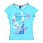 DISNEY t-shirt manches courtes LA REINE DES NEIGES 4 5 6 ou 8 ans turquoise