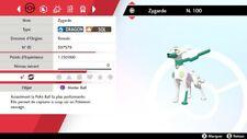 Pokemon Zygarde 10% shiny 6IV + masterball - Battle Ready -Pokémon Epée/Bouclier