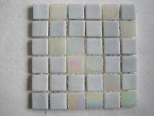 15 x 4 mm Glass Mosaic Tiles - 36 pieces on mesh - Pearl Horizon