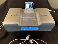 Apple 4Gb iPod Nano 3rd Generation Silver Ma978Ll & iH8 iHome Preowned Lot