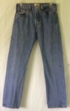 Levi's Original 501 Straight Leg Button Fly Blue Jeans Red Tab W29 L30