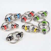 Mini Hand Spinner Fidget Bicycle Chain Cross Key Ring Focus Metal Finger Toys