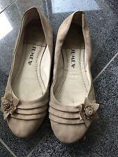 Ballerinas- Gr. 42 - Beige - Blüte