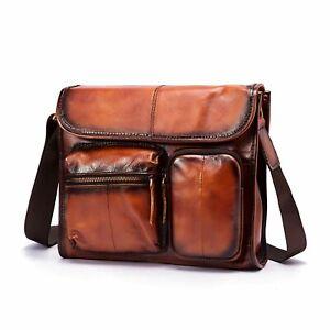 Men Genuine Leather Designe Casual Messenger Shoulder bag Crossbody Satchel Bag
