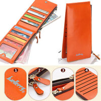 Women Leather Wallet Credit Card Holder Clutch Bifold Long Purse Handbag