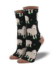 Sheep Socks - Black Socksmith Cotton Crew One Size Fits Most