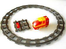 1x Lego Duplo Batteriebetriebene Lok,ICE Lok mit Schienen # ÜBERHOLT #