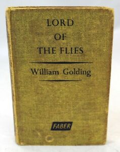 Vintage LORD OF THE FLIES Book by William Golding, Faber & Faber 1962, H/B - B14