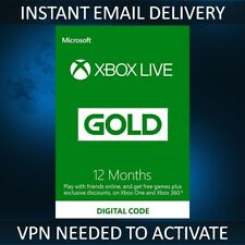 12 Month Xbox Live Gold Membership Xbox One / Xbox 360 - BRAZIL VPN Required