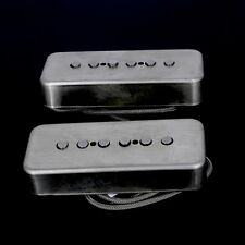 Lindy Fralin P90 Soapbar Pickups ALNICO Poles RAW NICKEL COVERS -10% Neck