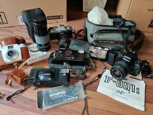 Konvolut analog Fotoapparate, Kamera Konica, Minolta, Nikon etc uvm aus Nachlas