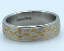 """Christian Bauer Gent's Platinum+18k Yellow gold ring 6.50 mm wide """"Sample Sale"""""""