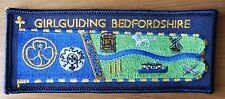 GIRL GUIDING BEDFORDSHIRE CLOTH STANDARD BADGE