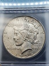 1935-S Silver Peace Dollar $1 ICG MS61 90% Silver Tougher Date