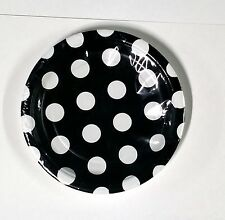 Polka Dot Party Plates Paper Round 8 Count 7 inch - U Pick Color