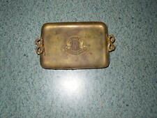 Vtg Dollhouse Miniature Brass Metal Souvenir De France Coat Of Arms Serving Tray