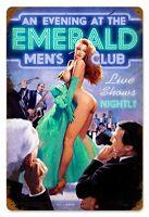 Emerald Men's Club Metal Sign ( Greg Hildebrandt )