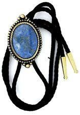 Natural Oval 40x30 Lapis Lazuli Cab Cabochon Gem Bola Bolo Tie Cord Tips EPBT32N