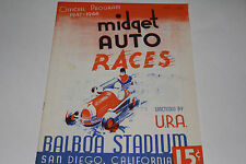 Midget Auto Races Program, San Diego Balboa Stadium, Nov 11 1947, Original