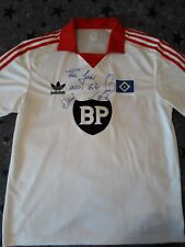 HSV Adidas Retro Kurzarm Trikot Gr. L Mit Unterschrift von Thomas von Heesen☝️