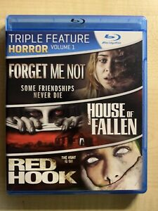 Triple Feature Blu-Ray - Forget Me Not, House of Fallen, Red Hook -Region A