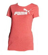 BNWT WOMENS ESS NO 1  PUMA   T SHIRT TOP CHERRY RED 16