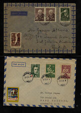 Finland  2  semi postal stamps on covers to  US         KL0123