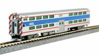 KATO 1560972 N Scale Chicago Metra 8750 Bi-Level Cab-Coach Pullman 156-0972 NEW