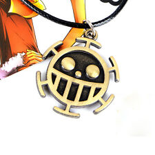 1x Trafalgar Law Logo Necklace Unisex Chain Pendant ONE Piece Anime Gift For Him