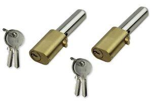 Roller Shutter Bullet Lock Oval Style Security Pin Locks 2 Keys Per Lock