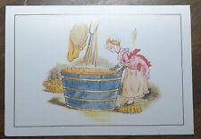 Kate Greenaway From Marigold Garden Salmon Series Postcard Washing Day