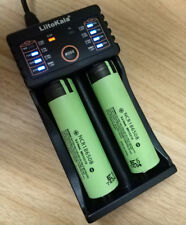 2X Panasonic NCR18650B 3400mAh Rechargeable Li-ion Battery Japan + smart charger