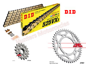 BMW S1000R DID Gold X-Ring Chain and JT Sprockets Kit Set (2013 to 2018)