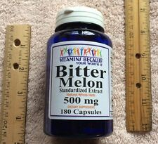 Bitter Melon Extract from Vitamins Because, 180 caps, 500 mg > NO PRESERVATIVES